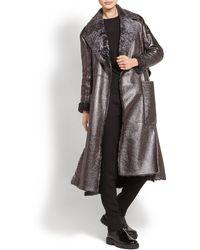 Ferragamo - Double-breasted Metallic Trench Coat - Lyst