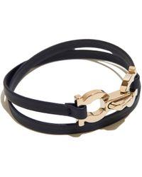 Ferragamo - Double Gancio Wrap Bracelet - Lyst