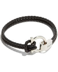 Ferragamo - Double Woven Bracelet With Gancini Hook Closure - Lyst