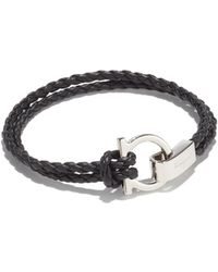 Ferragamo - Double Woven Bracelet With Gancini Hook Closure - Lyst