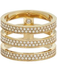 Michael Kors Triple Bar Ring - Lyst