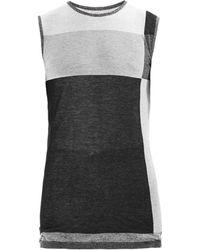 Rick Owens Striped Cotton-Jersey Tank Top - Lyst