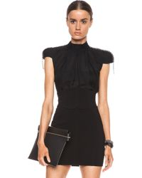 Pierre Balmain Embellished Silk Top - Lyst