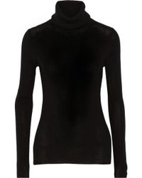 Alice + Olivia Ribbed-knit Wool and Cashmere-blend Turtleneck Sweater - Lyst