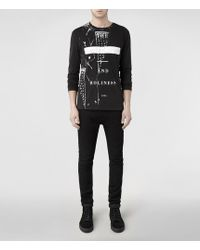 AllSaints Holiness Long Sleeved Crew Tshirt - Lyst