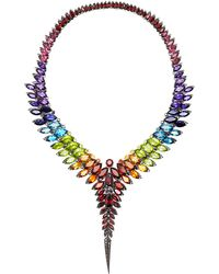 Stephen Webster Rainbow Feather Collar Necklace - Lyst