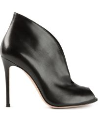 Gianvito Rossi Open Curved Booties - Lyst