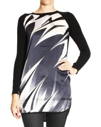 Emilio Pucci Sweater Long Sleeve Long with Print Astana Silk - Lyst