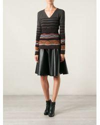 Missoni V-neck Woven Sweater - Lyst