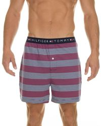 Tommy Hilfiger Mens Striped Knit Boxer - Lyst