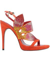 Cesare Paciotti Sandals red - Lyst