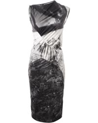 McQ by Alexander McQueen Haze-Print Paneled Dress - Lyst