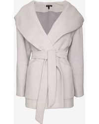 Exclusive For Intermix - Cocoon Hooded Wrap Coat - Lyst