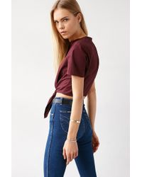 ALICE & UO - Betty Tie-front Cropped Top - Lyst