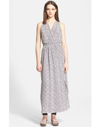 Hunter Bell 'Gloria' Print Silk Crepe De Chine Maxi Dress - Lyst