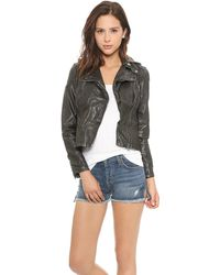 Free People Vegan Leather Hooded Moto Jacket Black - Lyst
