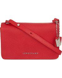 Longchamp Quadri Leather Cross-Body Bag - Lyst