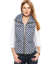 Michael Kors Michael Petite Foldable Printed Quilted Vest - Lyst