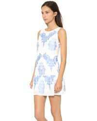 Twelfth Street by Cynthia Vincent Drop Waist Mini Dress White - Lyst
