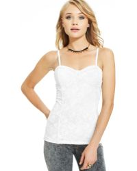 Material Girl Juniors Lace Bustier Camisole - Lyst