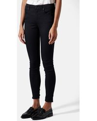 Topshop Moto 'Leigh' Mid Rise Skinny Jeans - Lyst