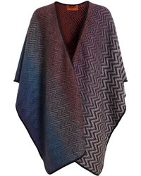 Missoni Reversible Cape - Lyst