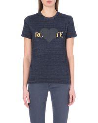 Rodarte Rohearte Jersey T-Shirt - Lyst