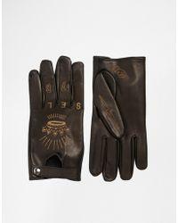 DIESEL - Ghyzuka Leather Gloves - Lyst