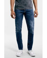 Topman Men'S Slim Fit Stretch Denim Jeans - Lyst