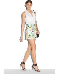 Milly Mosaic Print Pleated Short - Lyst