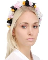 Francesco Ballestrazzi Silk Lace Flowers Headband - Lyst