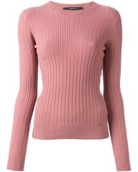 Gucci Pink Knit Sweater - Lyst