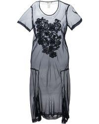 Comme Des Garçons Floral Sheer Dress - Lyst