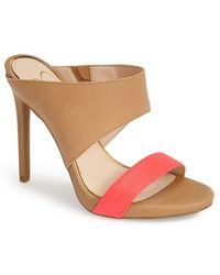 Jessica Simpson 'Romy' Leather Platform Mule - Lyst