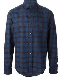 Kenzo Grid Print Shirt - Lyst