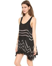 Free People Voile & Lace Trapeze Tank - Eggplant - Lyst
