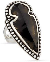 Pamela Love Obsidian Arrowhead Ring - Lyst