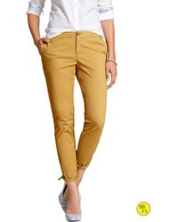 Banana Republic Factory Ryan Fit Slim Ankle Chino  Gold Statue - Lyst