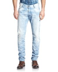 PRPS Bleached Straight-Leg Jeans - Lyst