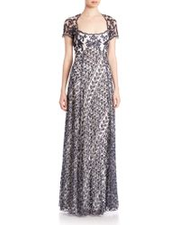 Notte by Marchesa | Lace Overlay Gown | Lyst
