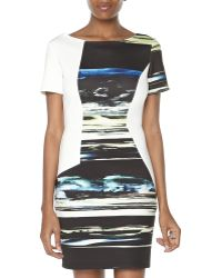 Sachin & Babi Asymmetric Print Sheath Dress  - Lyst