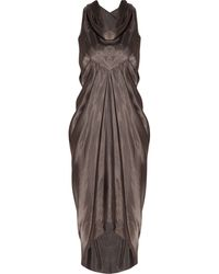 Rick Owens Draped Sateen Dress - Lyst