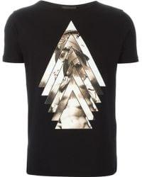 Emporio Armani 'David' Print T-Shirt - Lyst