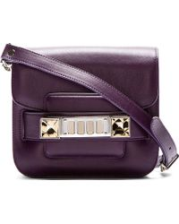 Proenza Schouler Grape Jam Purple Leather Ps11 Tiny Shoulder Bag - Lyst