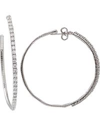 Mattia Cielo Rugiada Diamond Pave Hoop Earrings - Lyst
