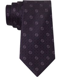 John Varvatos Silk Medallion Check Tie - Lyst