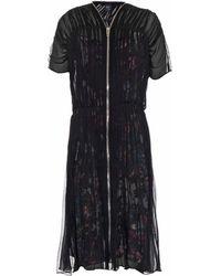 McQ by Alexander McQueen Shirred-Chiffon Zip Dress - Lyst