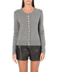 Juicy Couture Jewel Embellished Cardigan - Lyst