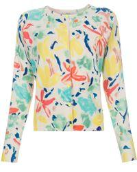 Paul Smith 'Palette Floral' Print Cotton-Blend Cardigan - Lyst