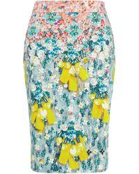 Mary Katrantzou Diamond Skirt Silverfloss - Lyst